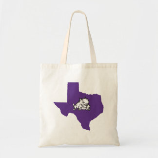 TCU Texas State with Horned Frog Tote Bag
