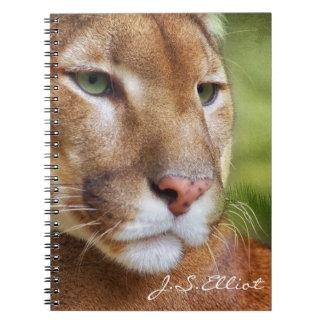 TCWC - Arte del león de montaña del puma Libros De Apuntes Con Espiral