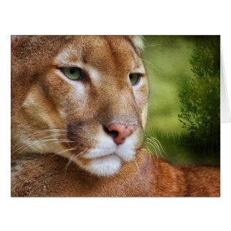 TCWC - Arte del león de montaña del puma Felicitacion