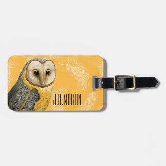 TCWC - Barn Owl Vintage Bag Tag