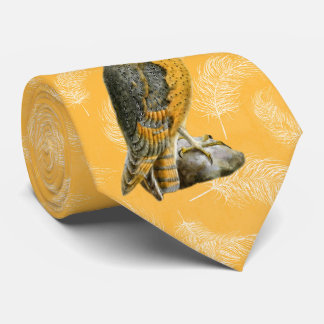 TCWC - Barn Owl Vintage Bird with Yellow Feathers Tie