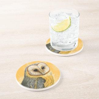 TCWC - Barn Owl Vintage Drink Coaster
