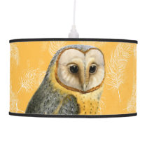 TCWC - Barn Owl Vintage Hanging Lamp