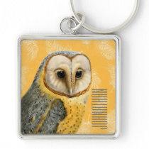 TCWC - Barn Owl Vintage Keychain