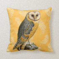 TCWC - Barn Owl Vintage Throw Pillow