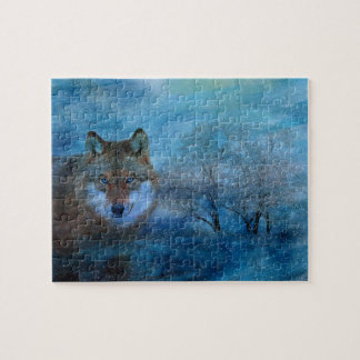 TCWC - Blue Wolf Christmas Jigsaw Puzzle
