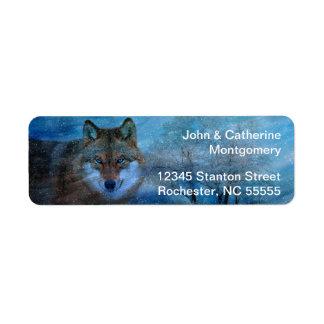 TCWC - Blue Wolf Christmas Custom Return Address Label
