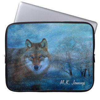 TCWC - Blue Wolf Christmas Laptop Sleeve