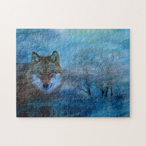 TCWC - Blue Wolf Christmas Jigsaw Puzzles