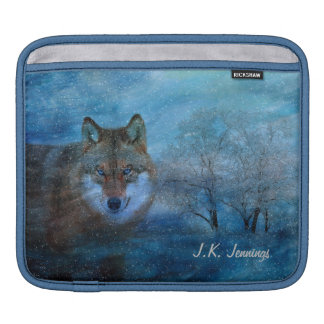 TCWC - Blue Wolf Christmas Sleeve For iPads