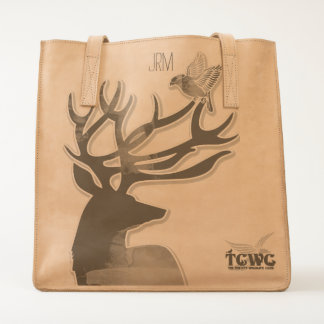 TCWC - Buck and Bird Woodland Harmony Monogrammed Tote