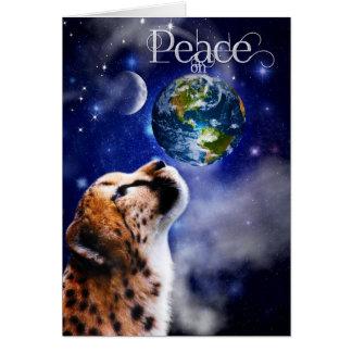 TCWC - Christmas Peace on Earth Cheetah Card
