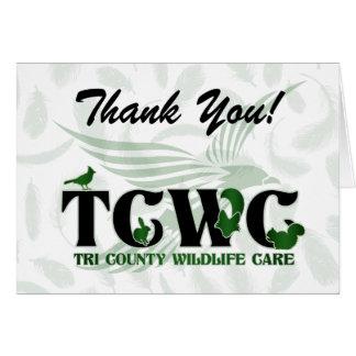 TCWC - El logotipo le agradece las notas Tarjeta Pequeña