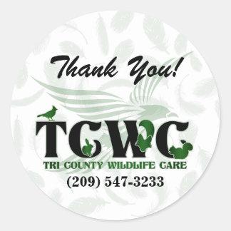 TCWC - El verde del logotipo le agradece los Etiquetas Redondas