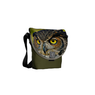 TCWC - Great Horned Owl Messenger Bag