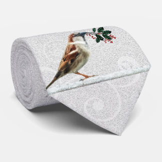 TCWC - Holiday House Sparrow in the Snow Neck Tie