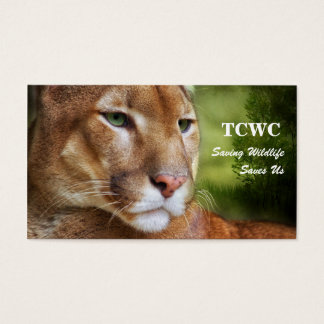 TCWC - Logo Mountain Lion |Volunteer Business Card