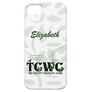 TCWC - Logo with Feather Background iPhone SE/5/5s Case