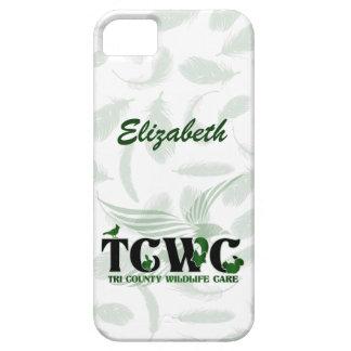 TCWC - Logotipo con el fondo de la pluma iPhone 5 Funda