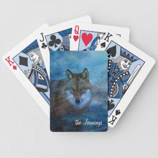 TCWC - Navidad azul del lobo Cartas De Juego