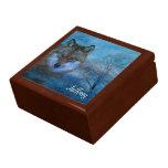 TCWC - Navidad azul del lobo Cajas De Joyas