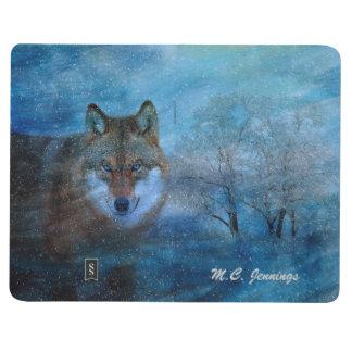 TCWC - Navidad azul del lobo Cuaderno Grapado