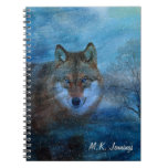 TCWC - Navidad azul del lobo Libreta Espiral