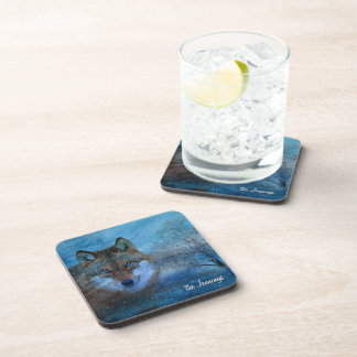 TCWC - Navidad azul del lobo Posavasos De Bebida