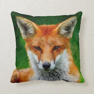 TCWC - Pintura de la acuarela del Fox rojo Almohada