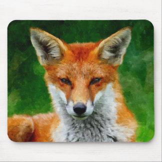 TCWC - Pintura de la acuarela del Fox rojo Tapetes De Ratón