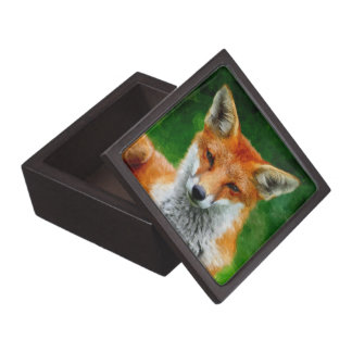 TCWC - Red Fox Watercolor Painting Jewelry Box