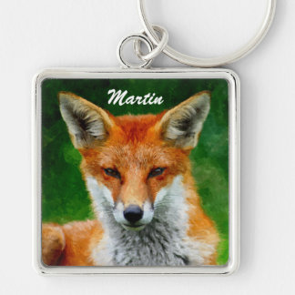 TCWC - Red Fox Watercolor Painting Keychain
