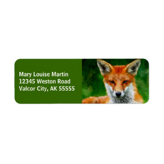 TCWC - Red Fox Watercolor Painting Label