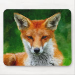 TCWC - Red Fox Watercolor Painting Mouse Pad