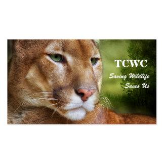 TCWC - Tarjeta de visita del león de montaña del