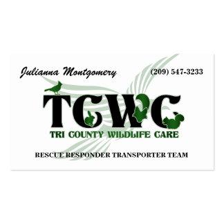 TCWC - Tarjetas de visita del voluntario del