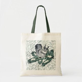 TCWC | Winter Squirrel on a Pine Branch Tote Bag