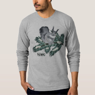 TCWC - Winter Squirrel on a Pine Branch with Logo T-Shirt