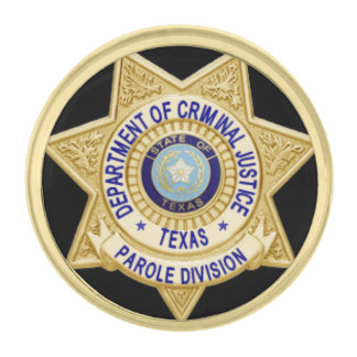 TDCJ Parole Division Mini Badge Lapel Gold Finish Lapel Pin