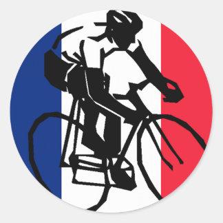 tdf vive le velo custom design classic round sticker