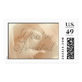 TDSwhite You're Invited Wedding Invitation Stamp
