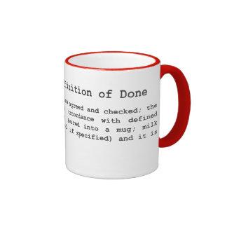 Té ágil - definición de hecho taza de dos colores