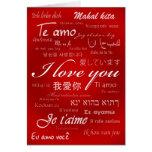 Te amo (30 idiomas) tarjetas