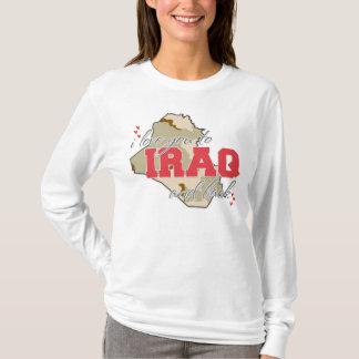 ¡Te amo a Iraq y a la parte posterior! Playera