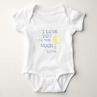 Te amo a la cita de la luna y de la parte body para bebé
