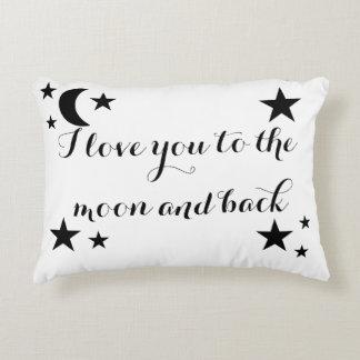 Te amo a la luna y a la almohada trasera del cojín decorativo