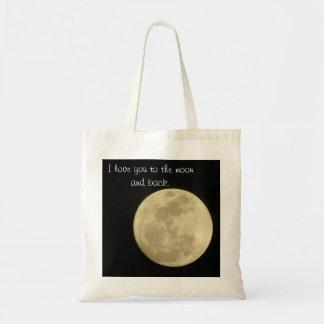 Te amo a la luna y a la bolsa de asas trasera