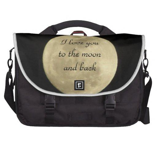 Te amo a la luna y a la caja trasera del ordenador bolsas para portátil
