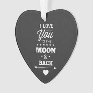 Te amo a la luna y a la parte posterior