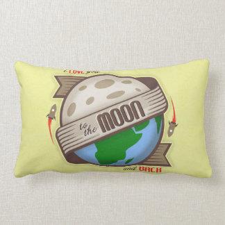 Te amo a la luna y a la parte posterior - almohada